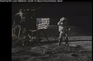 Apollo 16 Space Documentary time 22:39. Multiple anomalies.